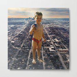 Standing on cities Metal Print