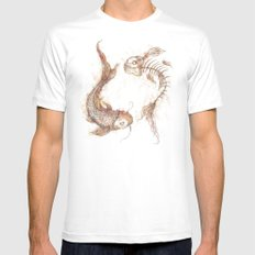 Yin Yang Fish Mens Fitted Tee White X-LARGE