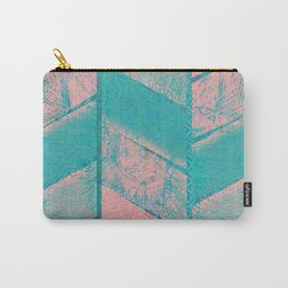 370 12 Pink and Blue Carry-All Pouch