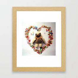 Owl will always love you Framed Art Print