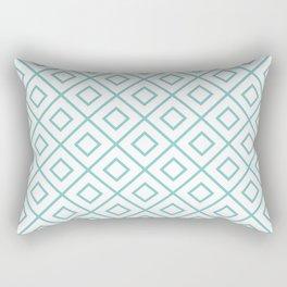 Aqua Diamond Pattern 2 Rectangular Pillow