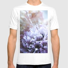 Flower Funeral Mens Fitted Tee White MEDIUM