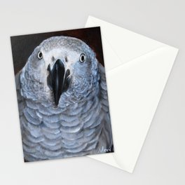 African Gray Parrot Artwork Stationery Cards