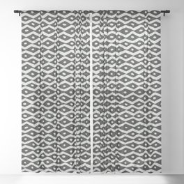 Black & White Tribal Pattern Sheer Curtain