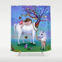The Unicorn's New Horn Shower Curtain