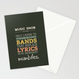 MORE Mumbling Bands — Music Snob Tip #095.5 Stationery Cards
