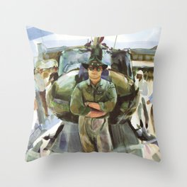 """""""Semper Paratus"""" - """"Always There, Always Ready"""" - Lt. Luciw of the R.I. Army National Guard Throw Pillow"""