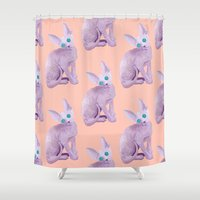 sphynx Shower Curtains featuring sphynx by terastar