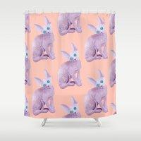 sphynx Shower Curtains featuring sphynx by terastar