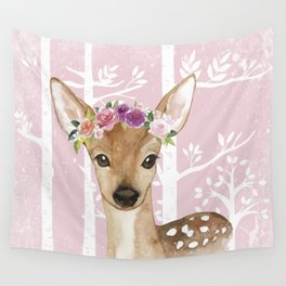 Animals in Forest - The Little Deer Wall Tapestry
