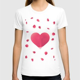 Rose Petal Heart T-shirt