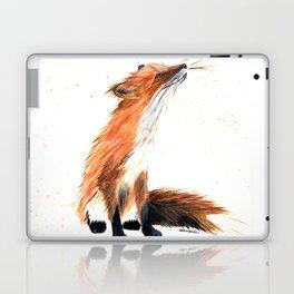 Monarch Fox - animal watercolor painting Laptop & iPad Skin