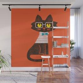 Fitz - Preppy cat Wall Mural