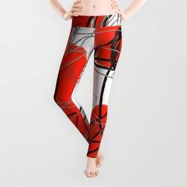 Red Dot Abstract Leggings