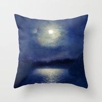 magnolia Throw Pillows featuring Magnolia by Viviana Gonzalez