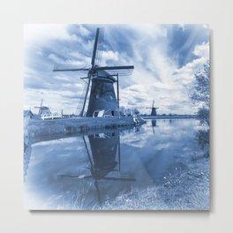Kinder Delft  Metal Print