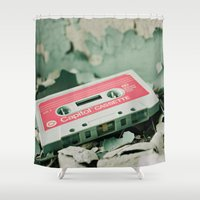 old school Shower Curtains featuring Old School  by Riot Jane