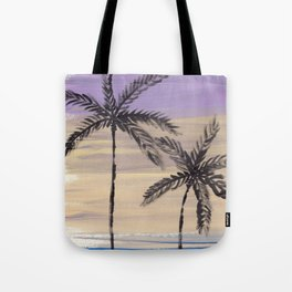 two palm trees euphoric sky Tote Bag
