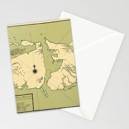 Map Of Falkland Islands 1700 Stationery Cards