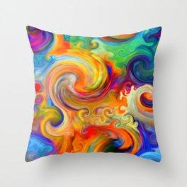 Bermuda Triangle Waves Throw Pillow