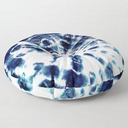 Tie Dye Sunburst Blue Floor Pillow