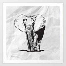 Mr. Elephanto Art Print