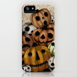 Halloween Pumpkins, a Cornucopia of Jack o' lanterns. spoopy iPhone Case