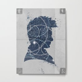 Dr Who poster Mad man with a box Metal Print