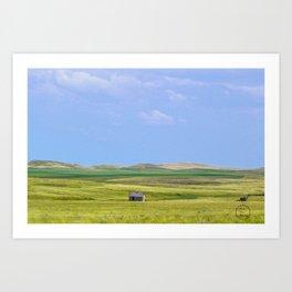 Fading into the Prairie, Near Carlyle, Montana Art Print