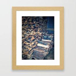 Cut Wood Framed Art Print