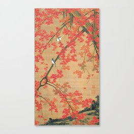 Flowers Japanese U-kiyo Canvas Print