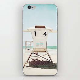Lifeguard Stand, Beach Photography, San Diego California iPhone Skin