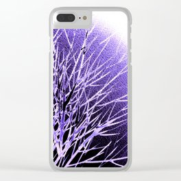 THE UltraViolet MOON Clear iPhone Case