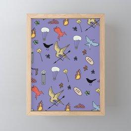 Hunger Game quality pattern  - purple version Framed Mini Art Print