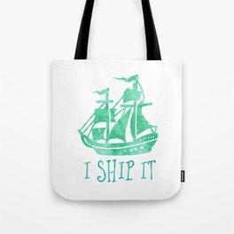 I Ship It - Watercolour Tote Bag