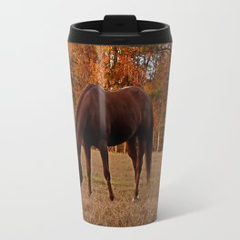 Horse Fall Days of Grazing Travel Mug