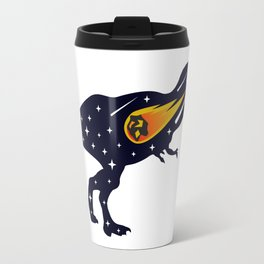 Dinosaur and meteorite strike #society6 #decor #buyart #artprint Travel Mug