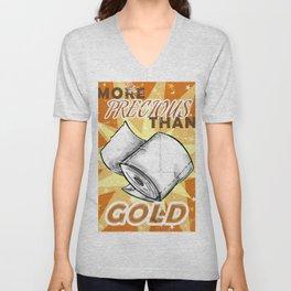 More Precious Than Gold Unisex V-Neck