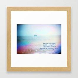 Make Voyages Framed Art Print