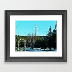 Vertical Wind Turbine Framed Art Print