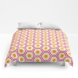 Colored Hexies Comforters