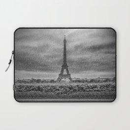 PARIS Eiffel Tower Thunderstorm Laptop Sleeve