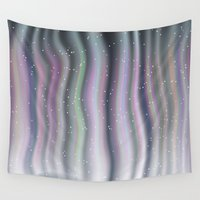 northern lights Wall Tapestries featuring Northern Lights by Bonnie Phantasm