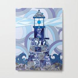 Grafidoodle Lighthouse Metal Print