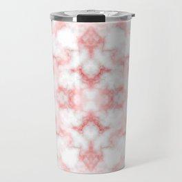 Abstract Red Marbel Travel Mug