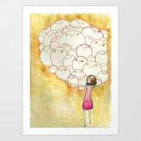 teacher Art Prints featuring Teacher by jackie morrow