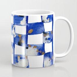 Blue and White Checks Coffee Mug