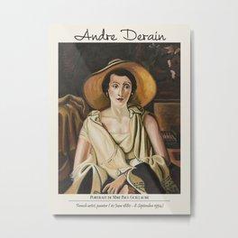 Vintage poster -André Derain-Portrait de Mme Paul Guillaume. Metal Print