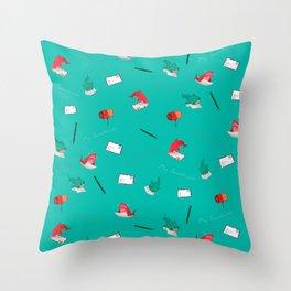 Teal Whale Shark and Shark Throw Pillow