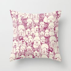 just alpacas cherry pearl Throw Pillow